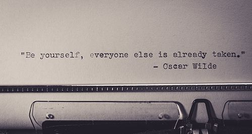 Oscar Wilde quote on website copywriter Caitlin Wright's website