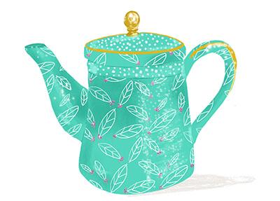 Tea pot depicting medium website copywriting package