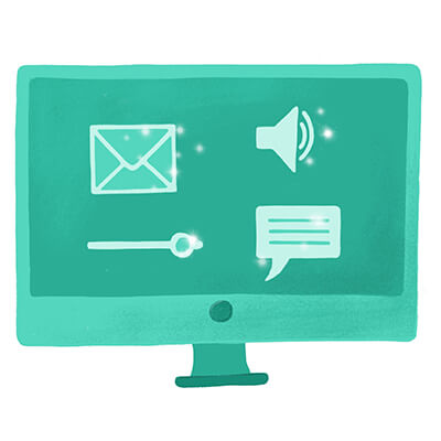 Online content writer icon