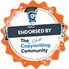 the clever copywriting school endorsed badge