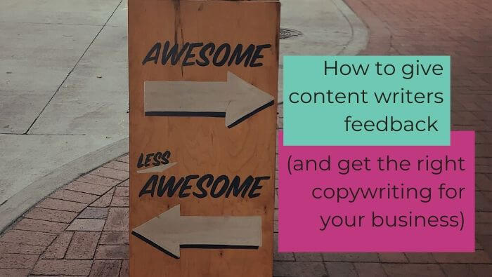 How to give content writers feedback